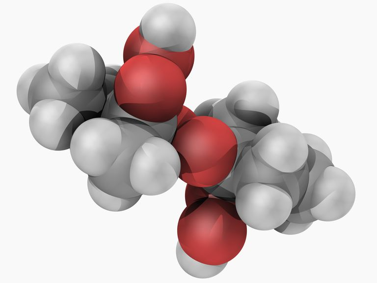 Methyl ethyl ketone peroxide is an organic peroxide used as a high explosive and as a catalyst to polymerize polyester.