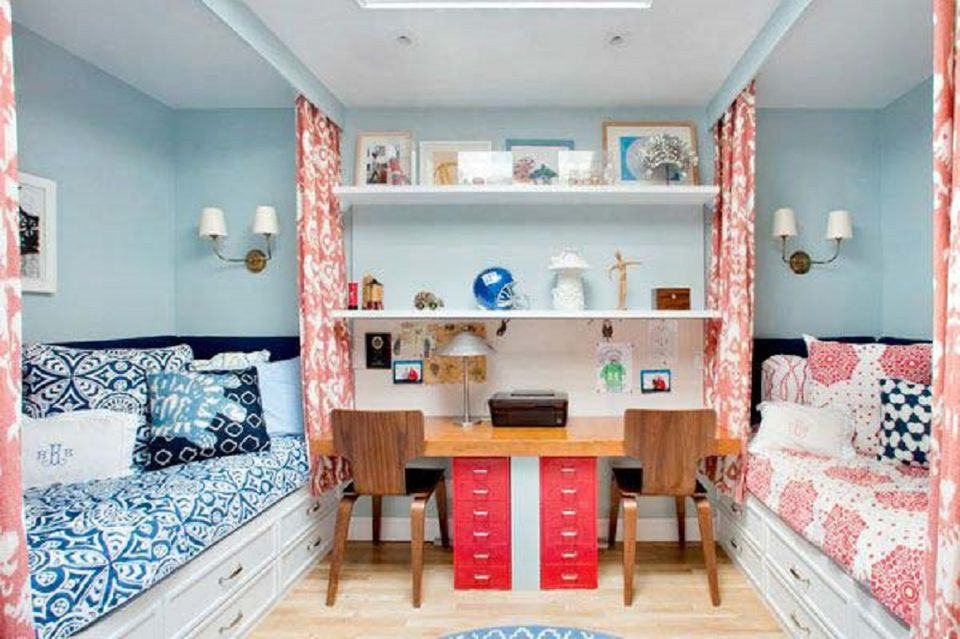 shared bedroom ideas. Photo courtesy of Teen Vogue Great Ideas for Shared Kids  Bedrooms