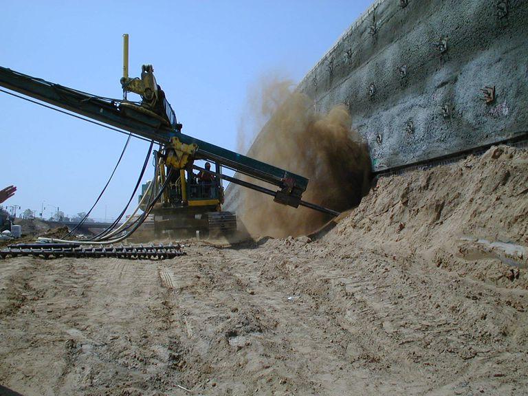 Soil nailing wall