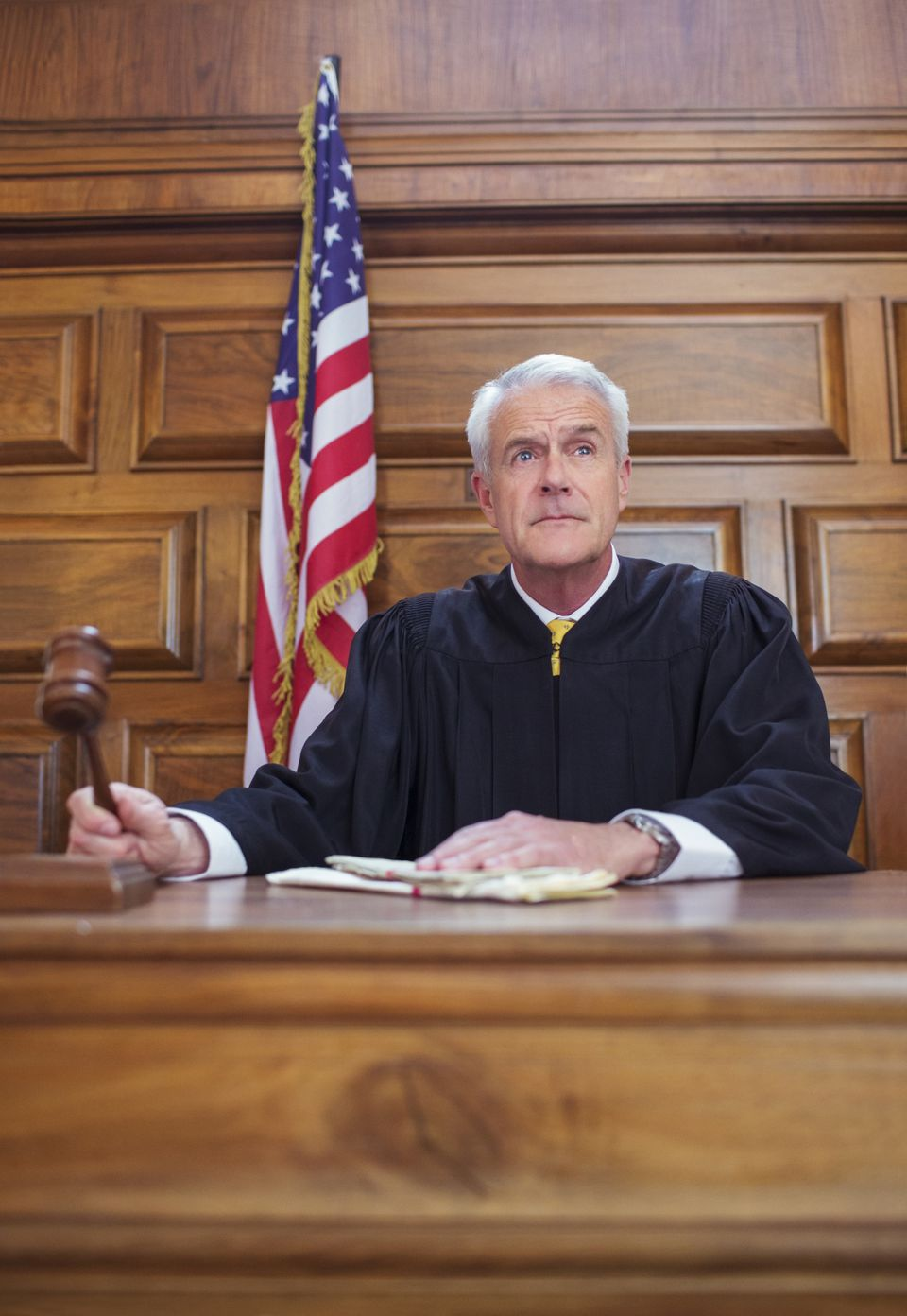 Judge issuing an ex parte order