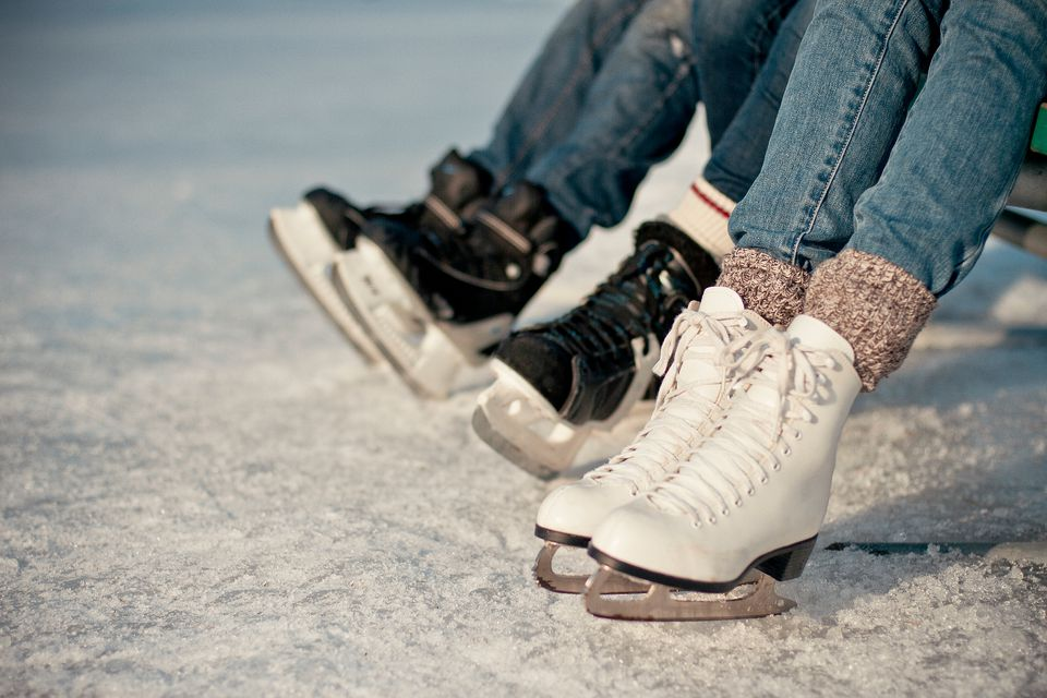 Ice skates can be bought either new or used