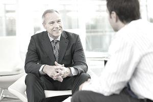 Man listening during interview
