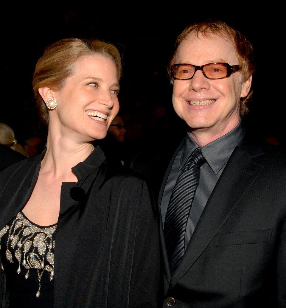 Bridget Fonda and Danny Elfman