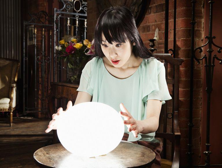 predicting future crystal ball premonition prophecy woman saint