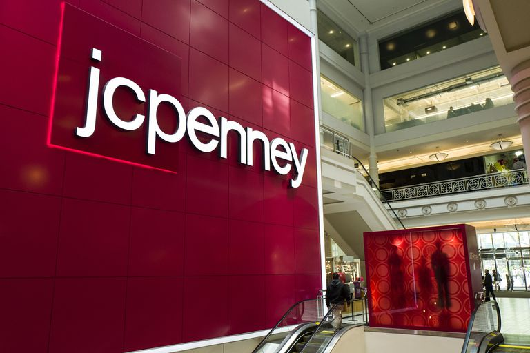 JC Penney logo at store entrance