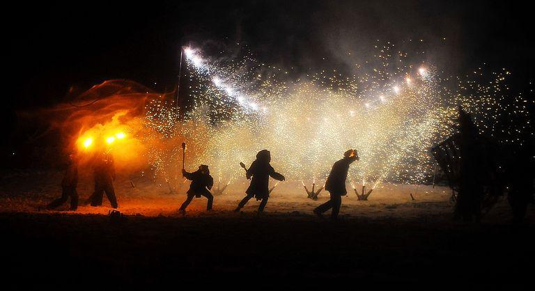 Enthusiasts Enjoy The Marsden Imbolc Fire Festival 2012