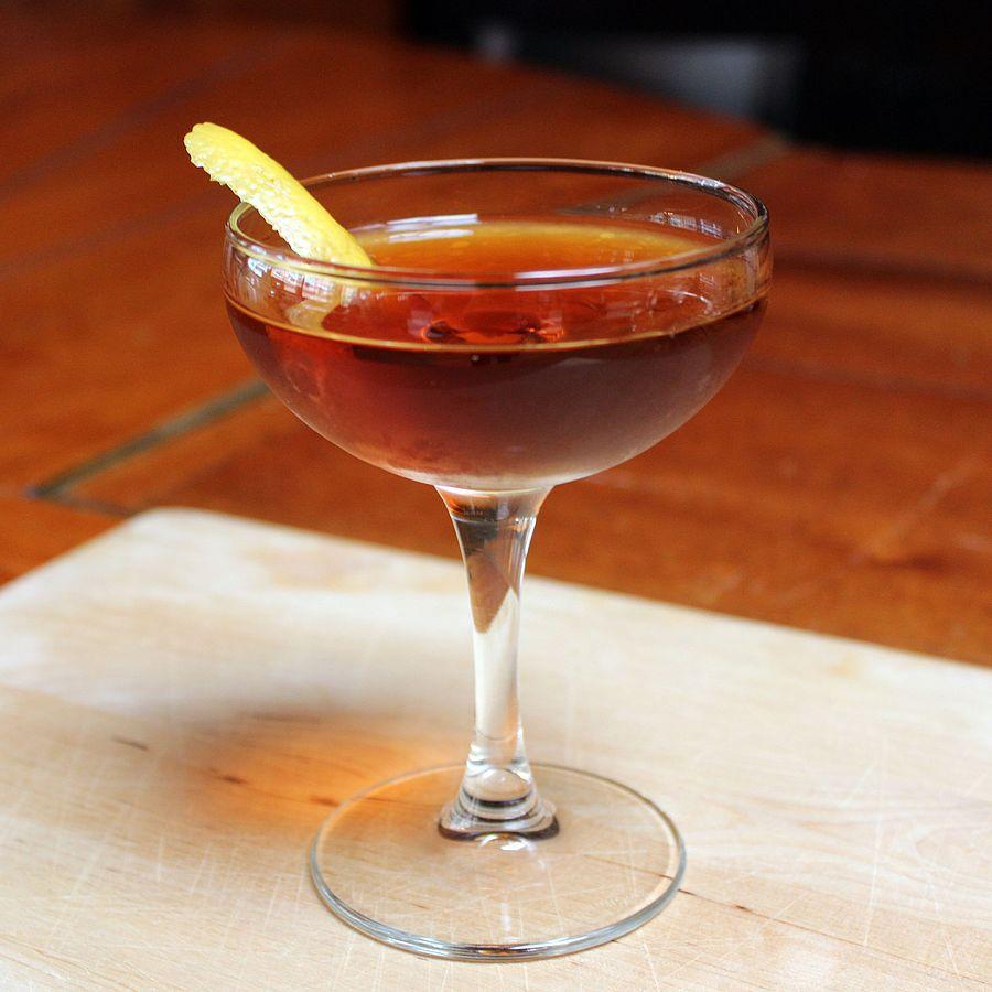 Classic Cocktail with Lemon Twist