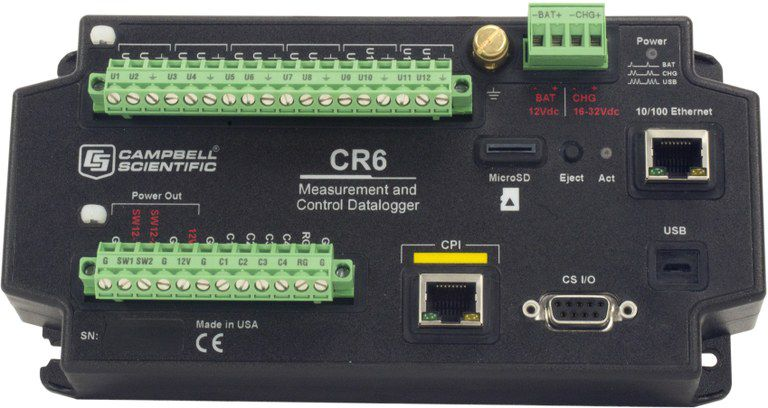 Photo of a CR6 Data Datalogger