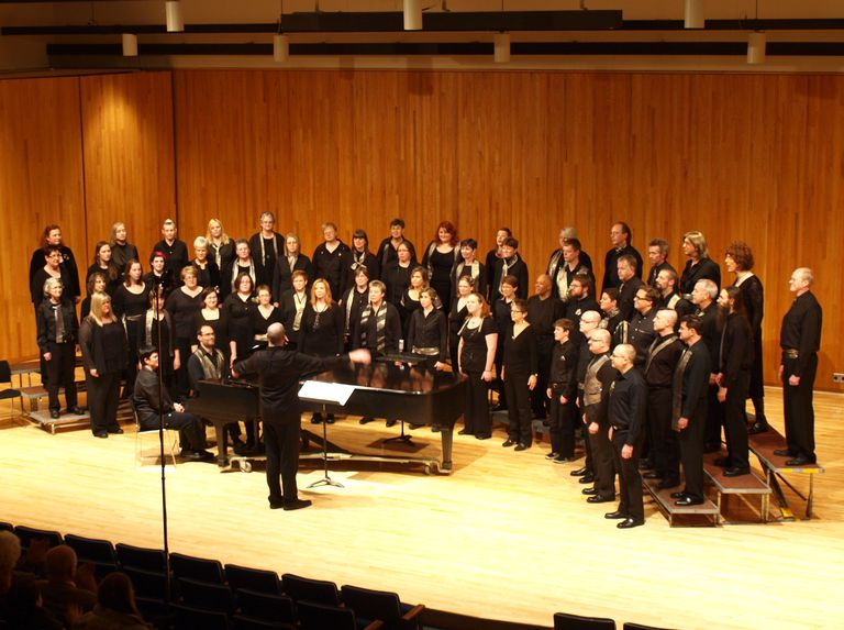 One Voice Mixed Chorus performs in Morris, Minnesota at the University of Minnesota's recital hall