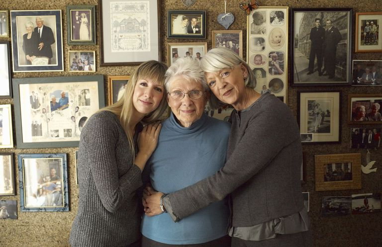 Three Generations of Women by Family Photos