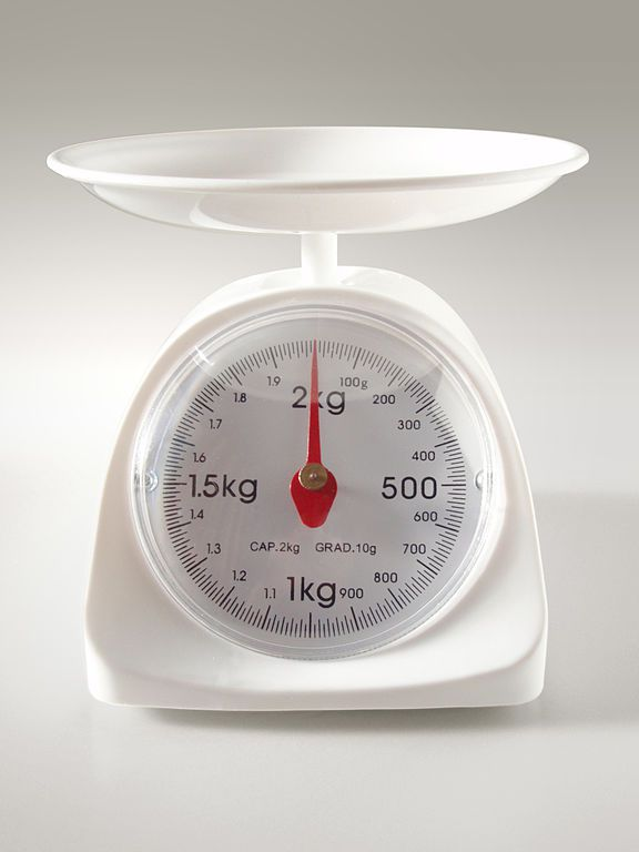 kitchen scale with grams measurement