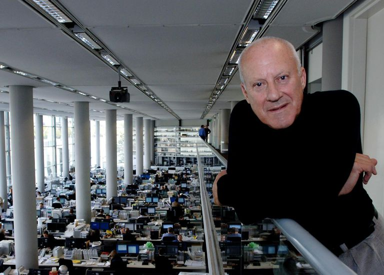 Sir Norman Foster, architect, at the headquarters of Foster + Partners in Battersea, London