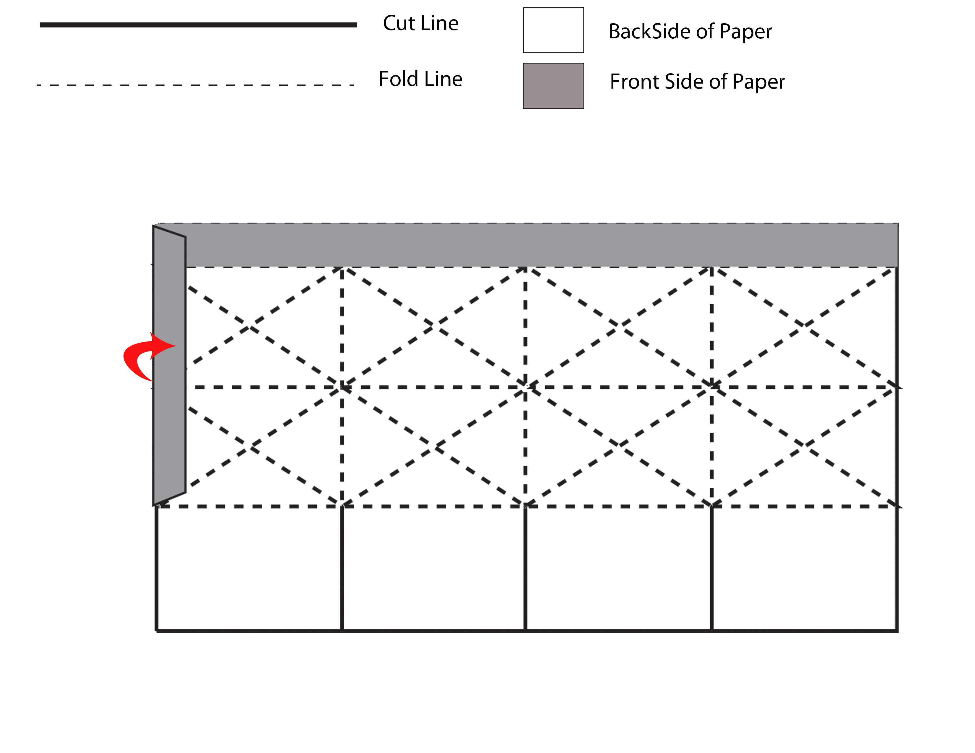 How to Make a Pretty Folded Square Paper Lantern for Cardboard Lantern Template  150ifm