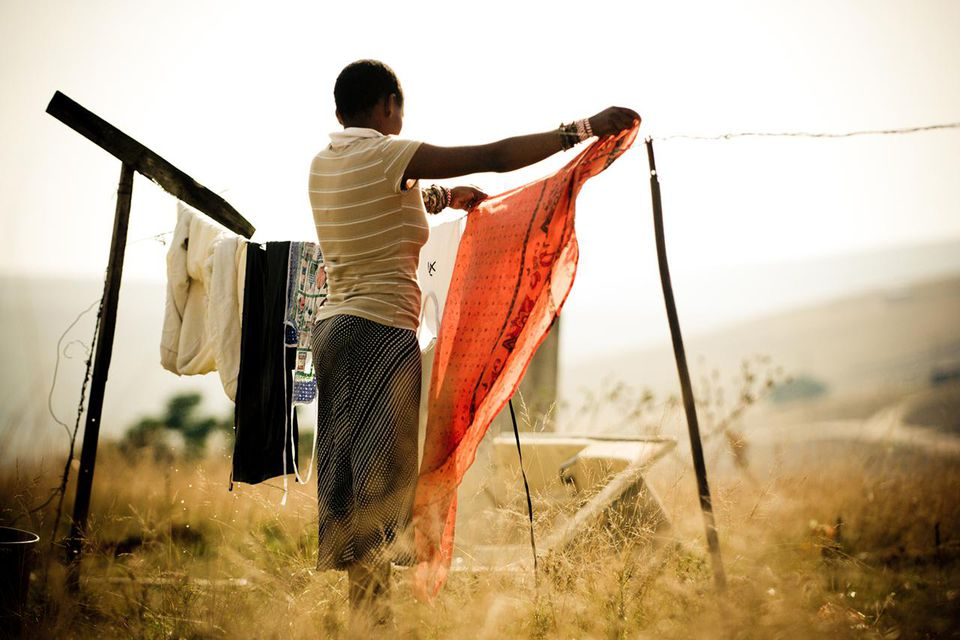 Clothes Washing in Rural Africa