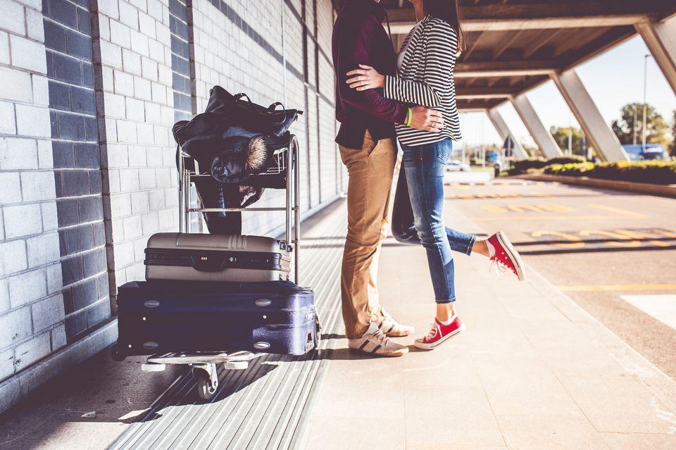 Couple exploring the city
