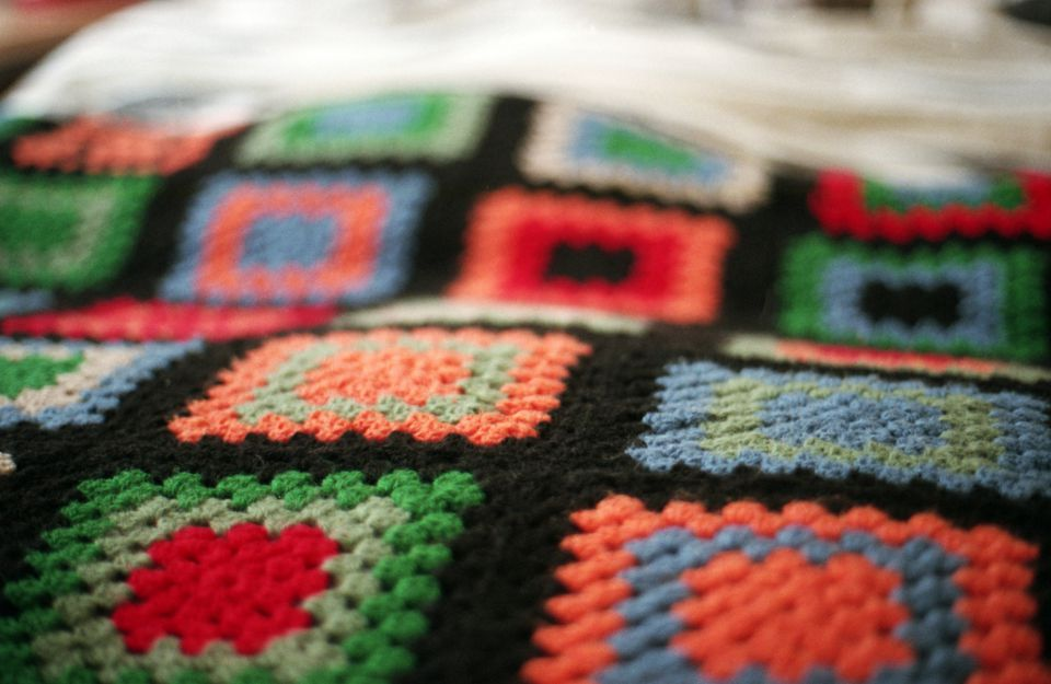 Hand made crochet blanket