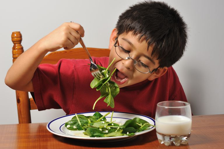 Boy eating his lunch