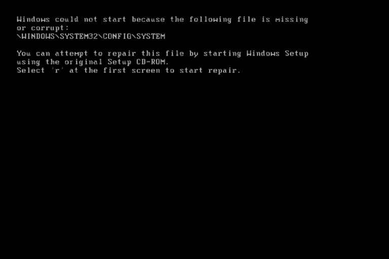 Reparar System32 Config System WindowsXP