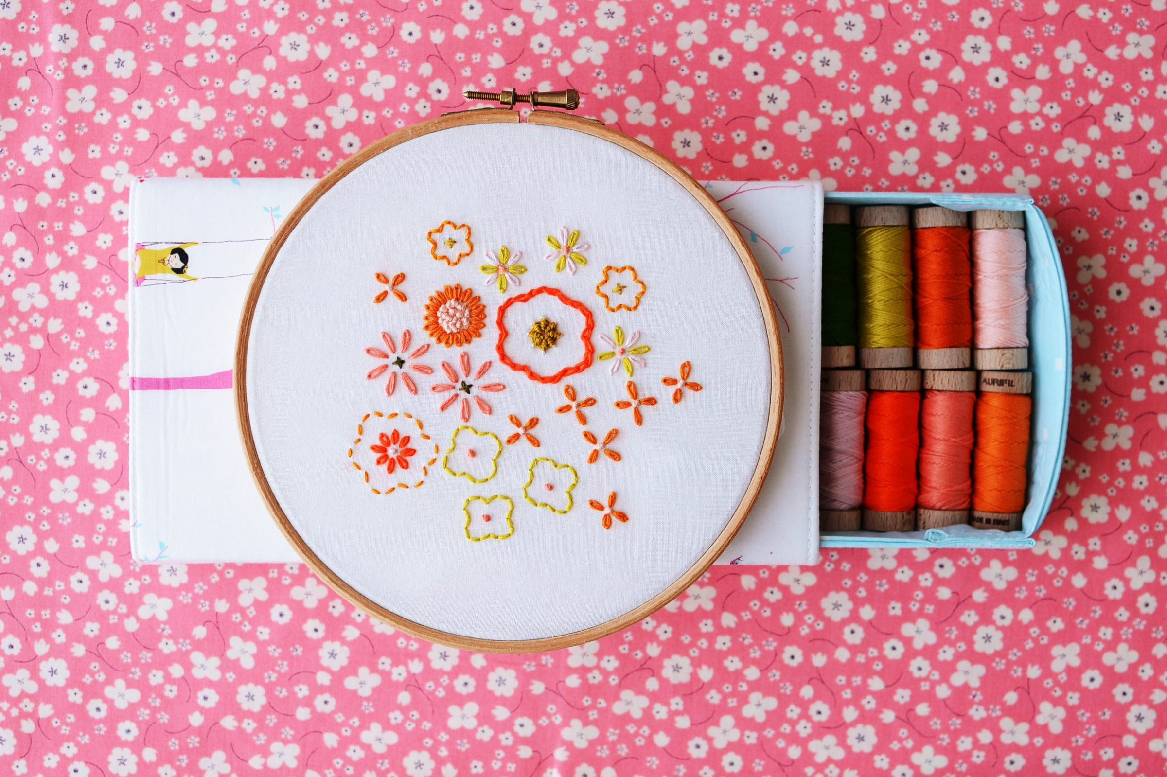 Hand embroidery patterns for spring