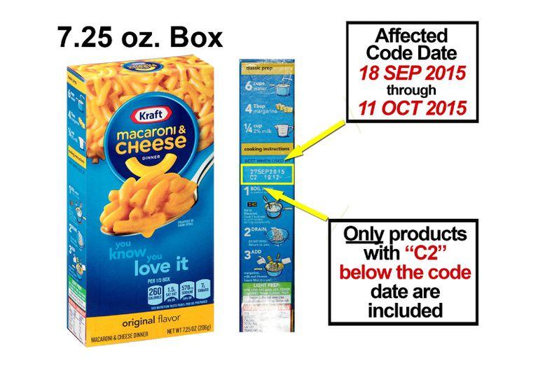 kraft macaroni and cheese recall