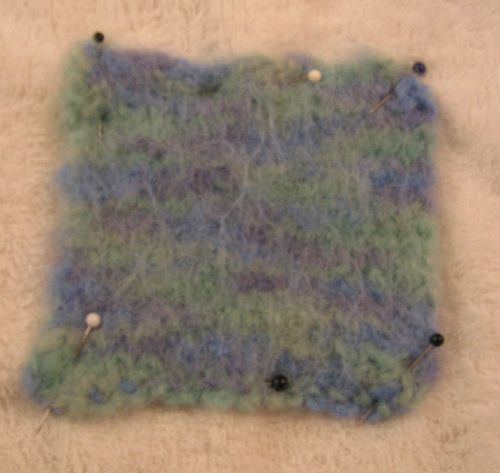 Blocked felted swatch