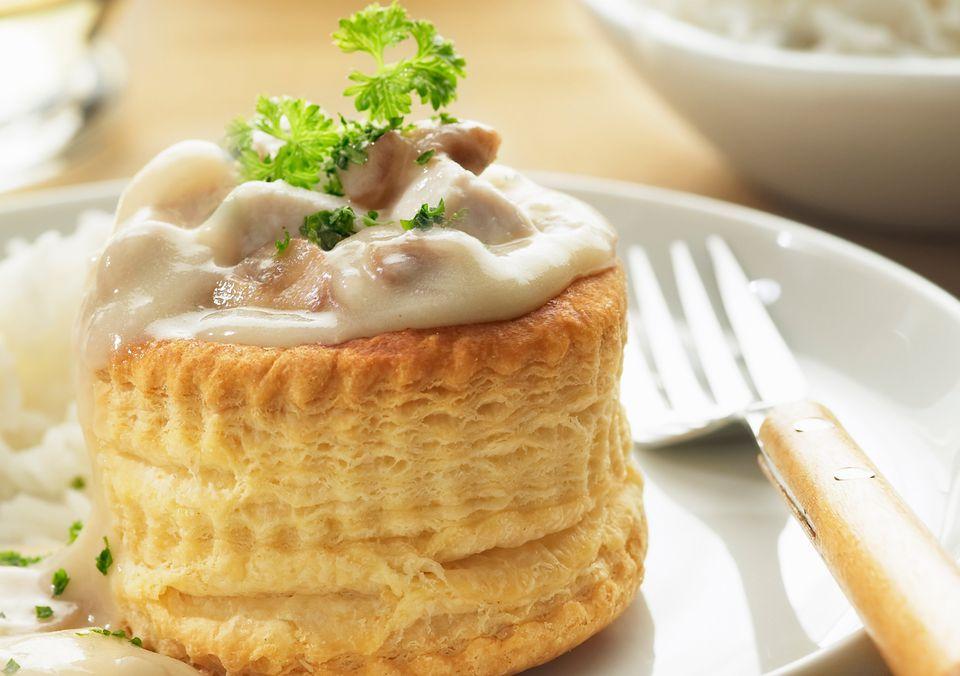 creamy chicken a la king, vol-au-vent