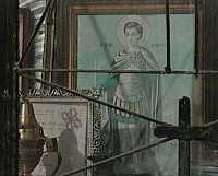 Interior of a Greek shrine