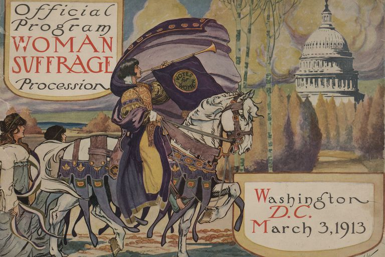 Official Program, Woman Suffrage Demonstration, 1913