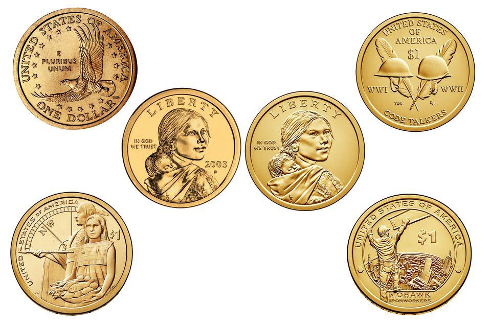 Sacagawea and Native American One Dollar Coins