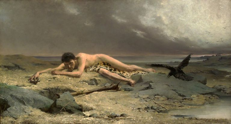 1885 Painting of Cain