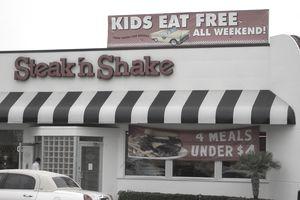 A Steak 'n Shake restaurant storefront