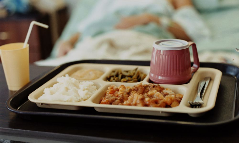 Untouched food at hospital