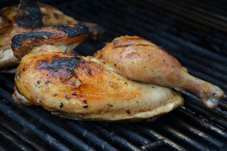 Chicken on a barbeque