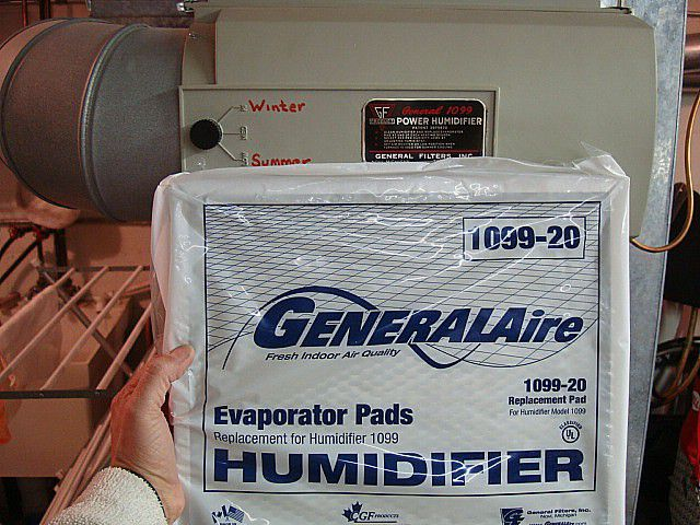 Replacing A Humidifier Evaporator Pad