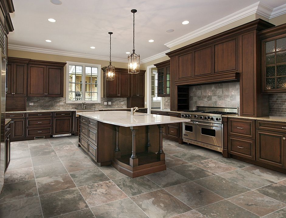 Idea: Stone-Looking Porcelain Tile for Kitchen Floor
