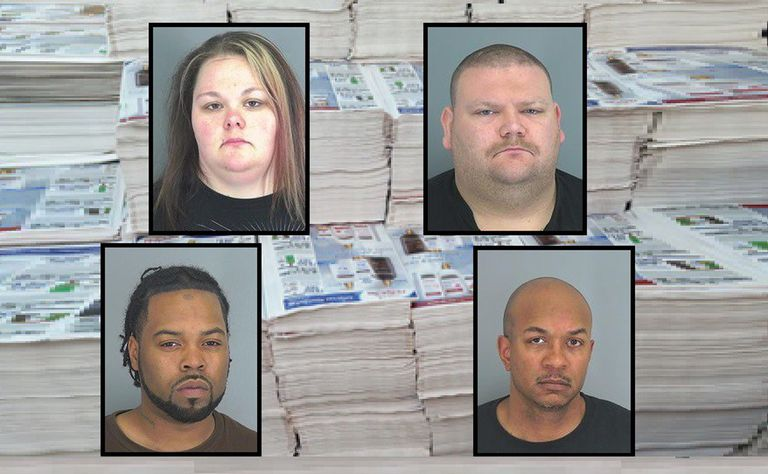 Four people arrested for coupon fraud.