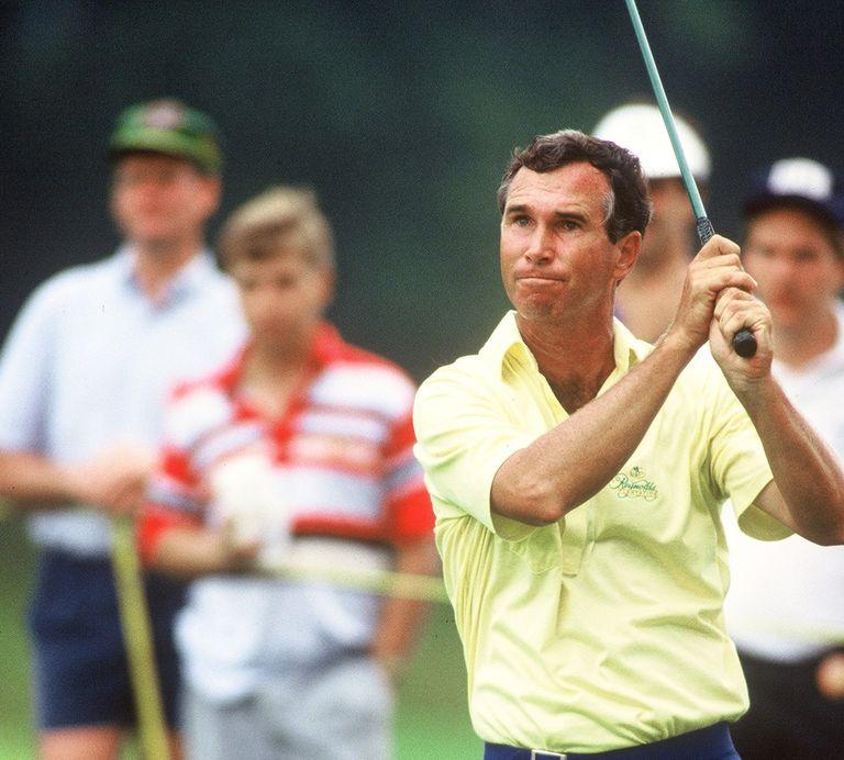 Hubert Green playing on the PGA Tour in 1991.
