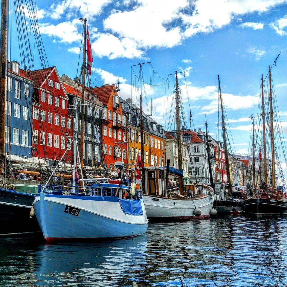 Nyhavn in Copenhagen in Denmark