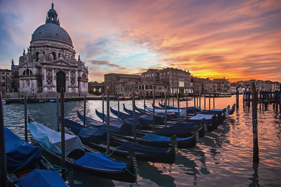 A dramatic sky in Venice, Italy.