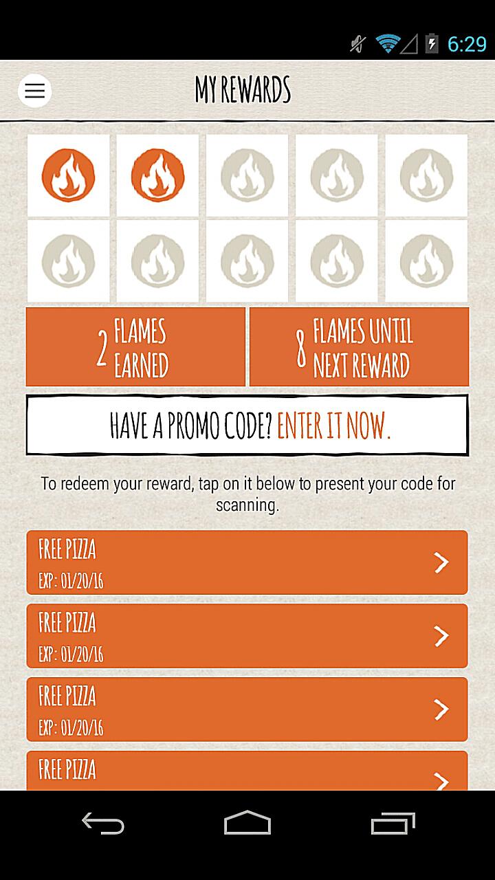 Blaze Pizza Mobile App