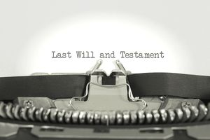 "the words ""Last Will and Testament"" printed on typing paper"