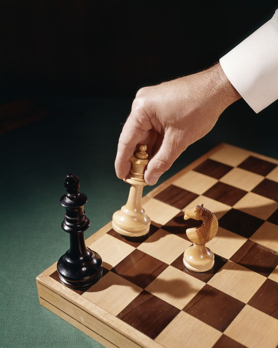 white moves queen into position for checkmate