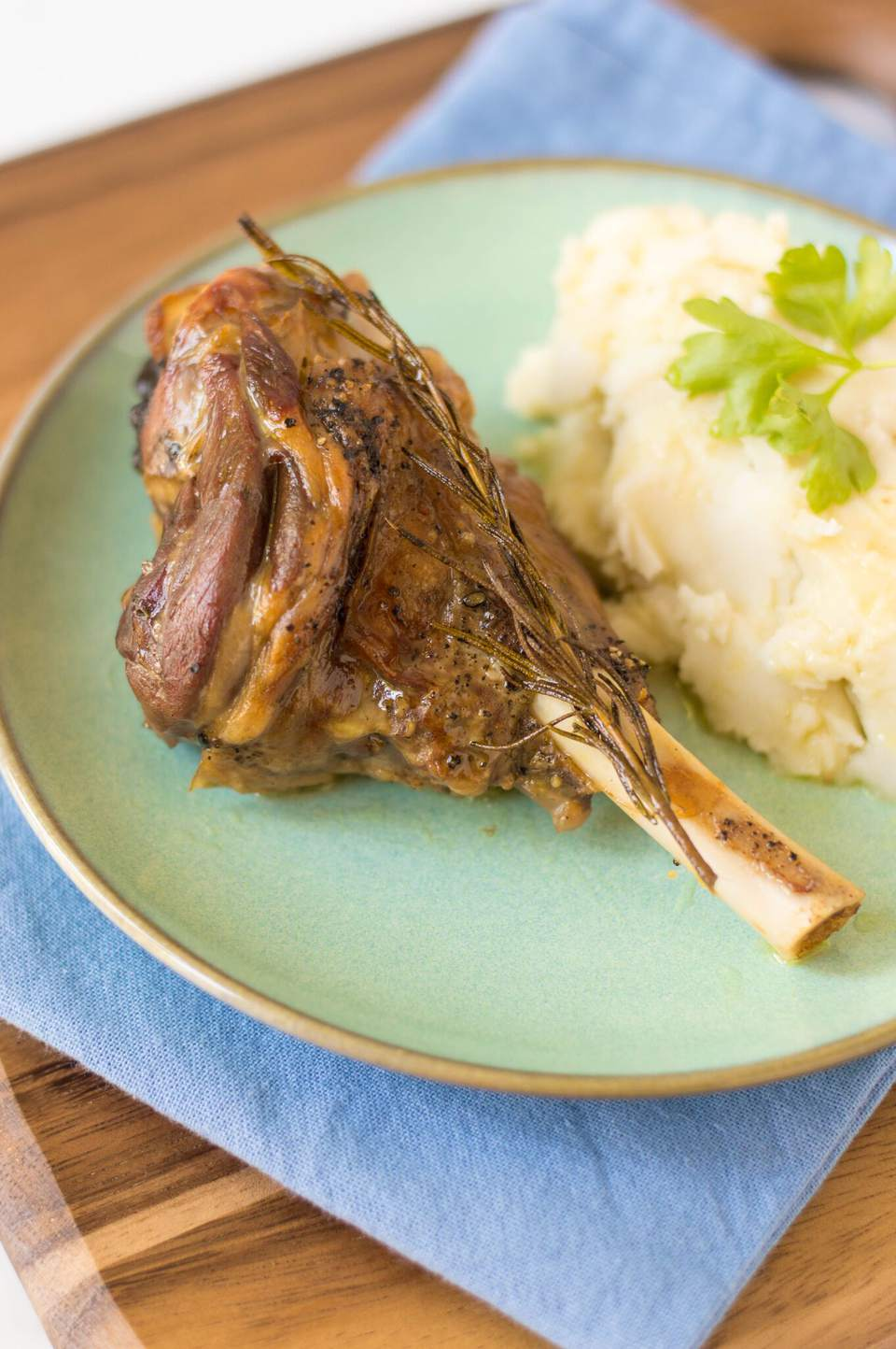 Rosemary Garlic Lamb Shank