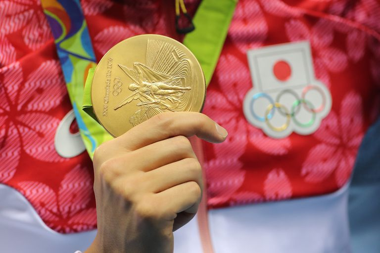 This is a gold medal awarded at the 2016 Summer Olympic Games in Rio de Janeiro.