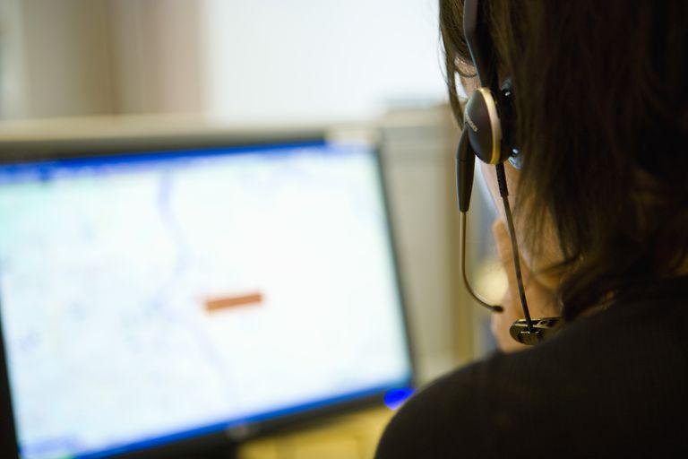 Emergency dispatcher at work
