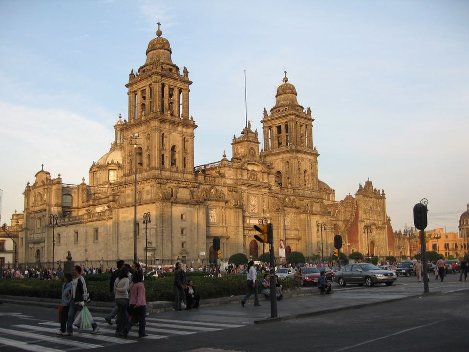 The Metropolitan Cathedral in Mexico City.