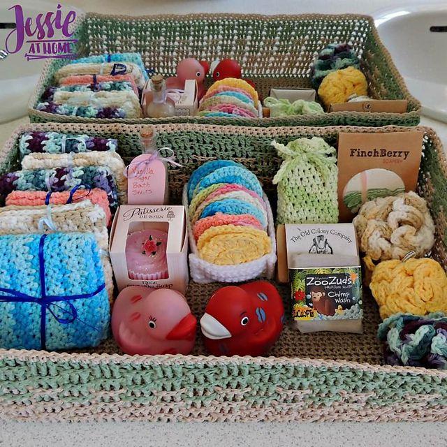 Spa Basket Free Crochet Pattern