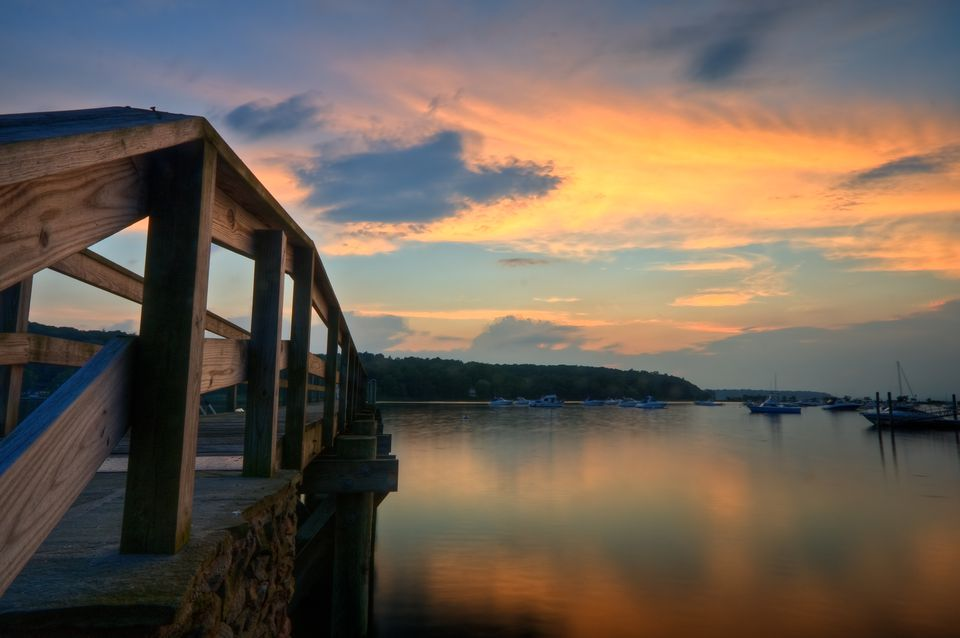 Sunset near Cold Spring Harbor
