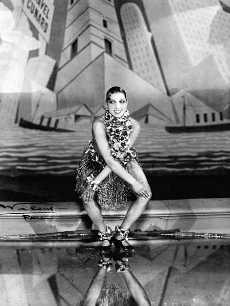Josephine Baker dancing the Charleston at Les Folies Bergère.