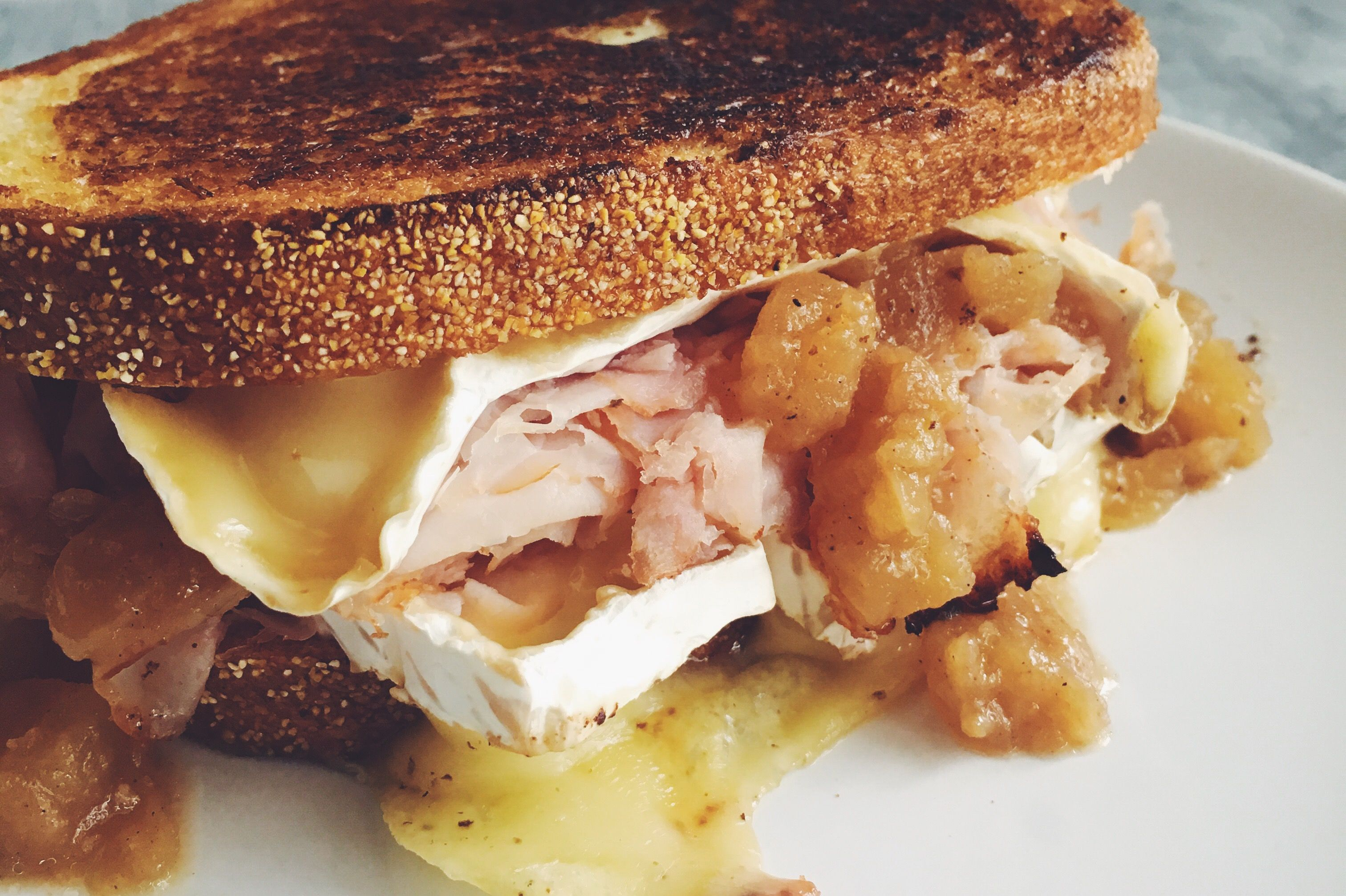 Ham and Brie Grilled Cheese with Caramelized Onion and ...